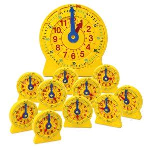 reloj de línea numérica