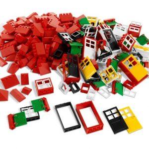 puertas ventanas y techos de Lego