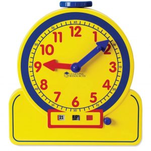Reloj analógico y digital para profesor